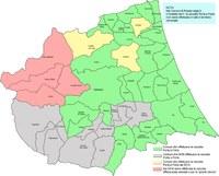 Nell'immagine sono riportati i sistemi di raccolta dei RU nei comuni della provincia di teramo