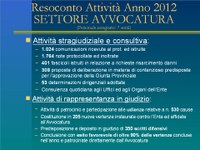 Resoconto attività 2012