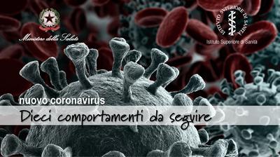 Nuovo coronavirus - dieci comportamenti da seguire - slide1
