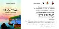 """""""VIVI L'ITALIA. TRA STORIA E ANTROPOLOGIA"""" di ALESSANDRA GASPARRONI"""