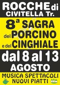 A Rocche di Civitella del Tronto dall'8 al 13 agosto la 10^ Sagra del Porcino e del Cinghiale