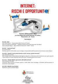 Presentazione convegno - Internet: rischi e opportunità