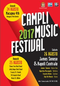 Dal 24 al 26 agosto il Campli Music Festival 2017: tre-giorni di musica diffusa in centro storico e frazioni