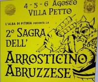 """Dal 4 al 6 agosto la seconda """"Sagra dell'arrosticino abruzzese certificato"""" di Villa Petto"""