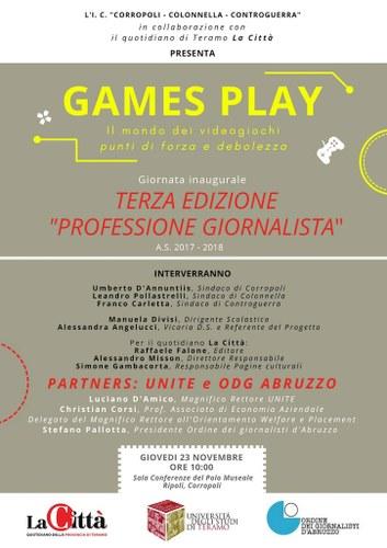 Games Play Il Mondo Dei Videogiochi 3 Edizione Del Progetto