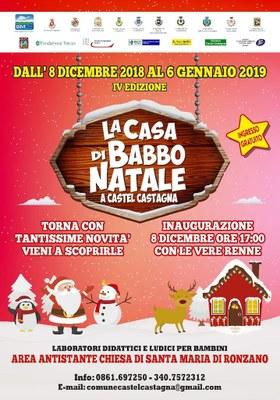 IV edizione della Casa di Babbo Natale a Castel Castagna