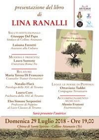 Locandina presentazione libro Lina Ranalli