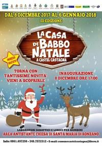 Riapre la Casa di Babbo Natale a Castel Castagna dall'8 dicembre all'Epifania