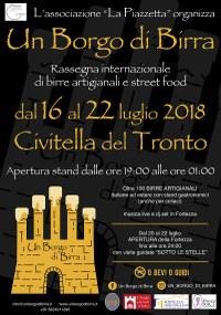 Locandina Un Borgo di Birra Fortezza Civitella del Tronto dal 16 al 22 luglio 2018