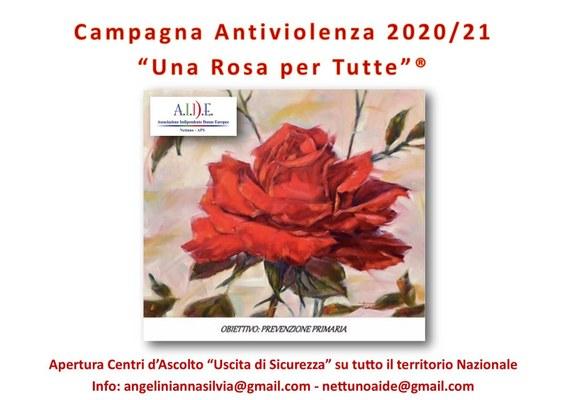 """""""Una rosa per tutte"""" per dire no alla violenza contro le donne"""
