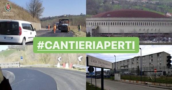 #cantieriaperti Iniziati i lavori di manutenzione sulle provinciali del capoluogo teramano. Si tratta dell'ultimo Masterplan della vecchia programmazione, 1 milione e 200 mila euro.
