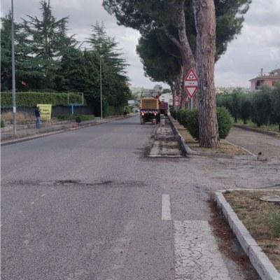 #cantieriaperti Iniziati i lavori sulla provinciale davanti all'ospedale di Sant'Omero