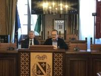 Il Presidente Di Sabatino insieme al Consigliere delegato in materia Mirko Rossi