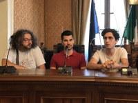 I collaboratori del Co-Working Domenico Di Felice, Cesare Di Flaviano e Stefano Palazzese