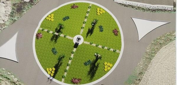 Controguerra. Aree verdi affidate ai privati: la rotonda sulla provinciale di via Colombo si fa bella