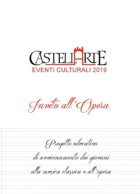Invito all'Opera: dal 2015 progetto, unico in Abruzzo, di divulgazione dell'opera lirica e melodrammatica  rivolto ai giovanissimi