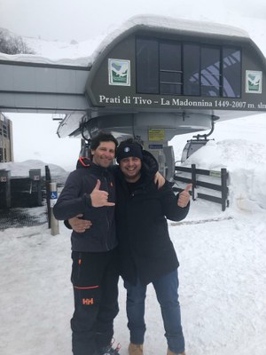 Lorenzo Alesi a Prati di Tivo: ha scelto la nostra montagna per girare un video