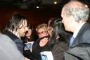 L'assessore Romandini e il fotografo Schirato con i familiari delle vittime