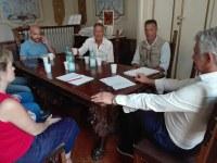 Un momento della riunione ieri in Provincia con il vicepresidente Giovanni Lolli