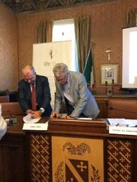 ass.re Pepe e presidente Federdistribiuzione Gradara